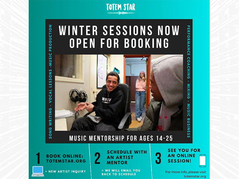 Totem Star Winter Sessions Now Open For Booking